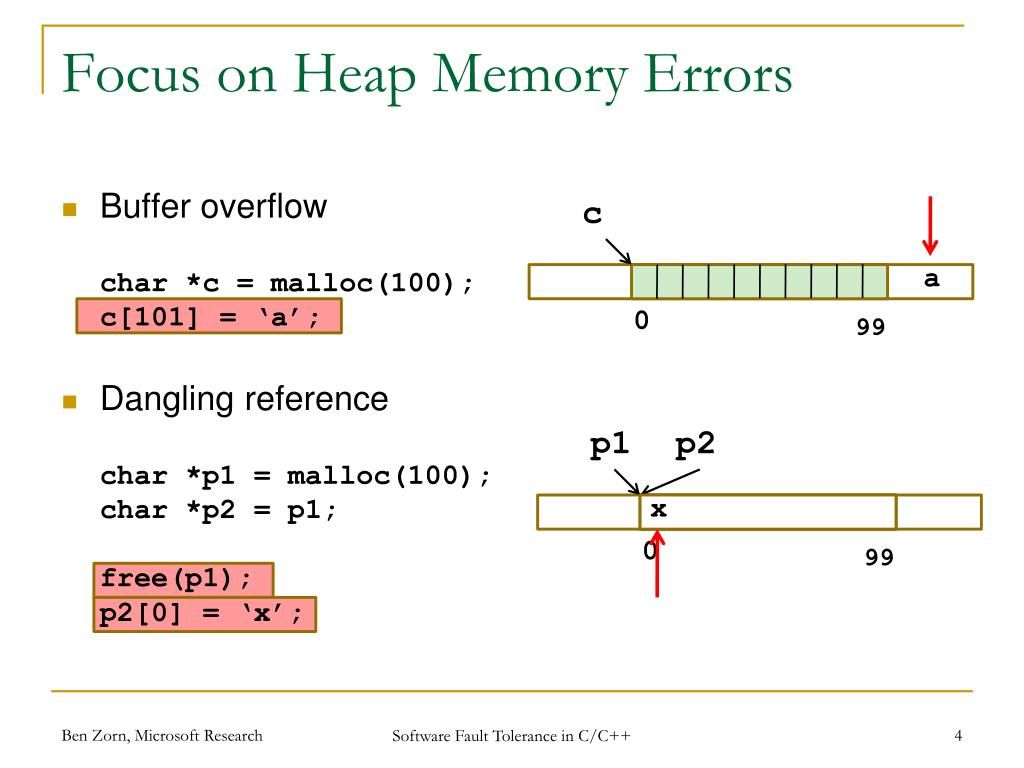 PPT - Software Fault Tolerance for Type-unsafe Languages ...