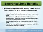 enterprise zone benefits