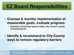 ez board responsibilities1