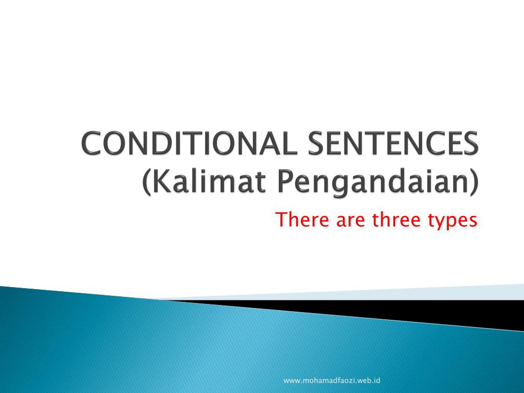 Ppt Conditional Sentences Kalimat Pengandaian Powerpoint