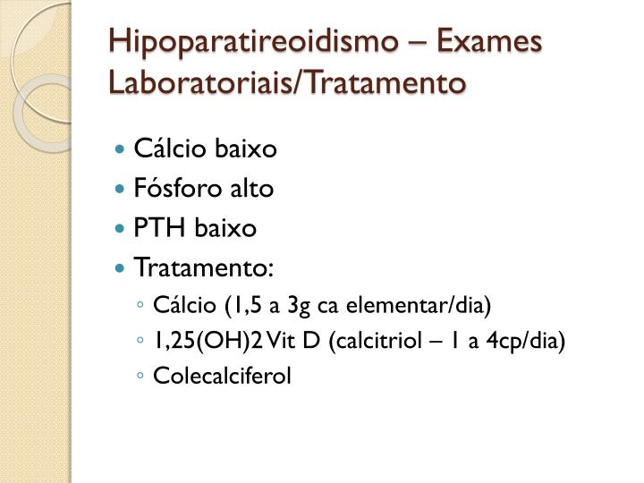 Hipoparatireoidismo