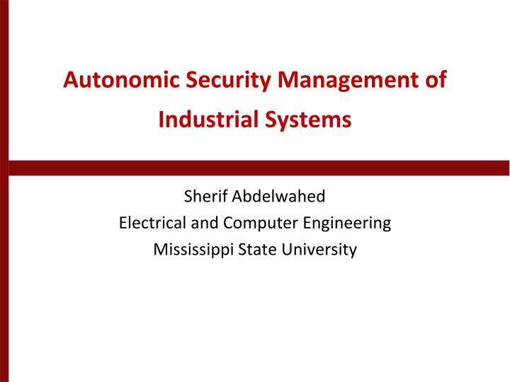 autonomic security management of industrial systems n.