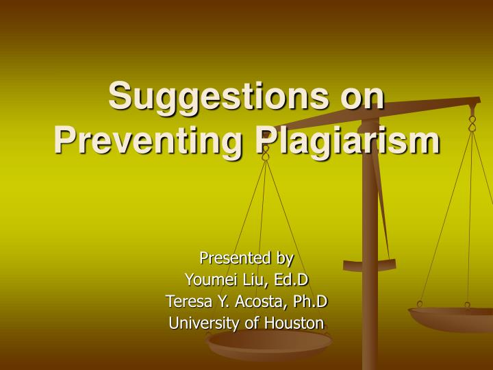 suggestions on preventing plagiarism n.