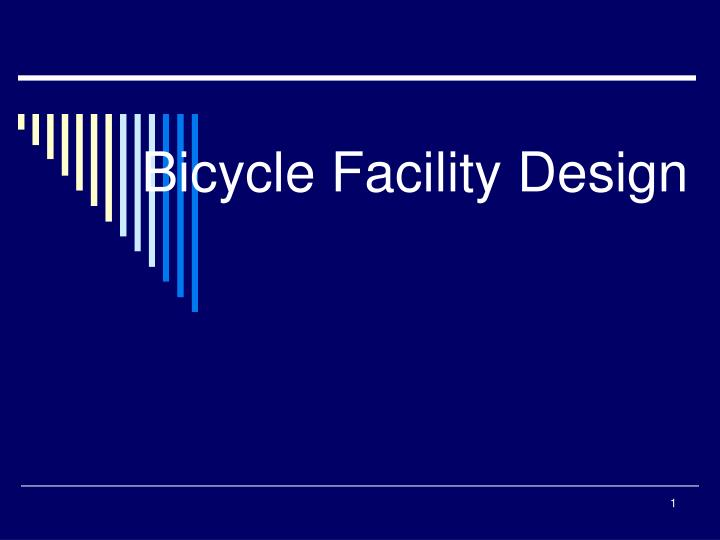 bicycle facility design n.