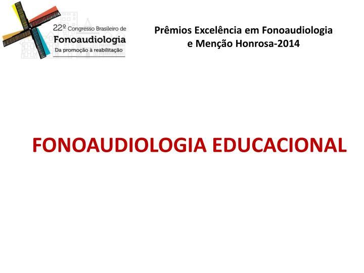 FONOAUDIOLOGIA EDUCACIONAL
