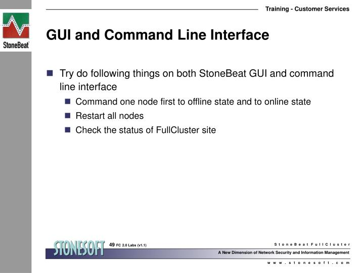 GUI and Command Line Interface