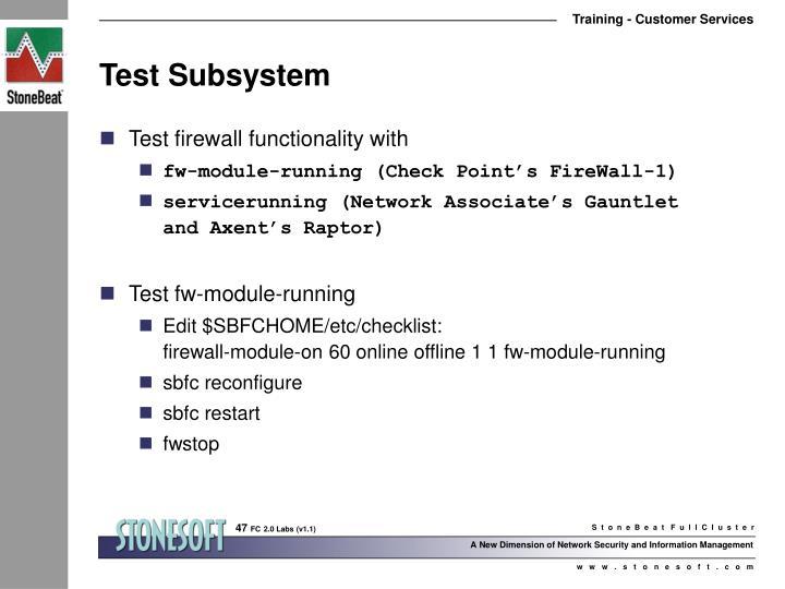 Test Subsystem