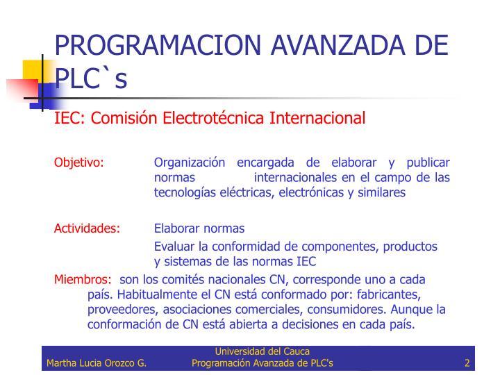 Programacion avanzada de plc s1