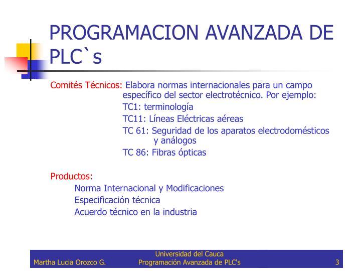 Programacion avanzada de plc s2