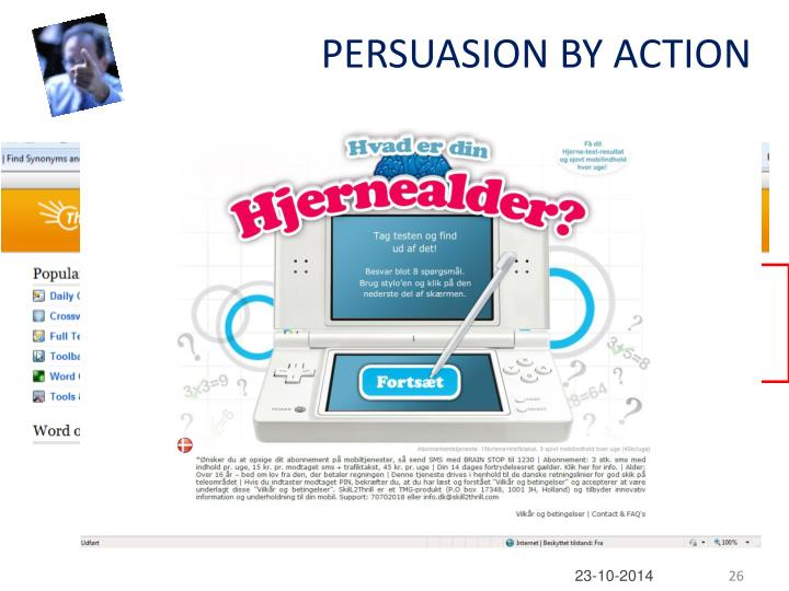 PERSUASION BY ACTION