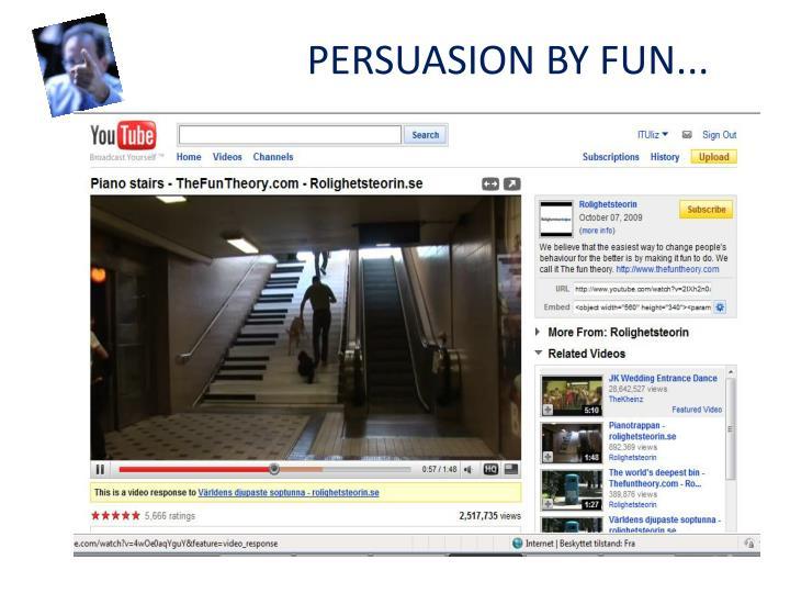 Persuasion by fun