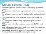 middle eastern trade