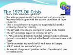 the 1973 oil crisis
