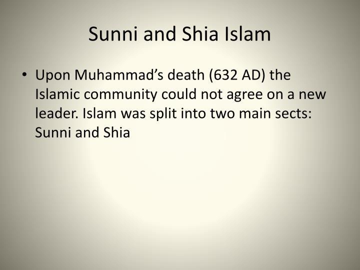 Sunni and Shia Islam
