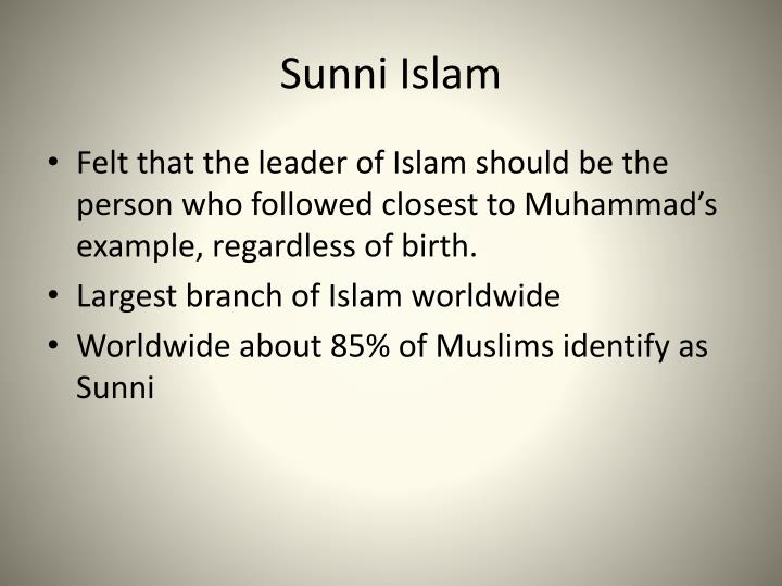 Sunni Islam