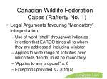 canadian wildlife federation cases rafferty no 11