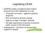 legislating ceaa