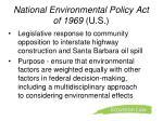 national environmental policy act of 1969 u s