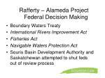 rafferty alameda project federal decision making