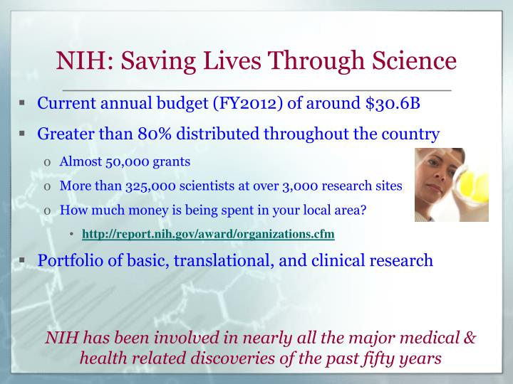 NIH: Saving Lives Through Science