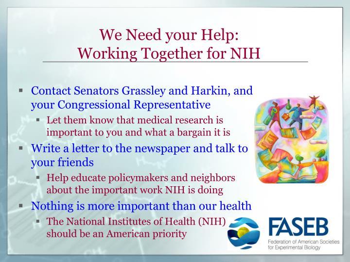 We Need your Help:
