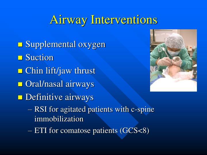 Airway Interventions