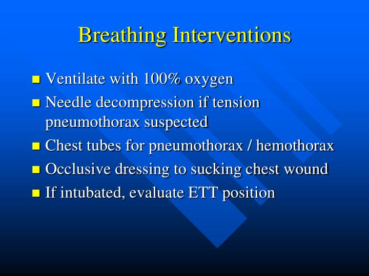 Breathing Interventions