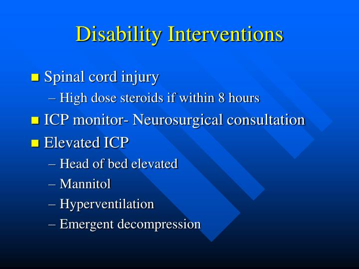 Disability Interventions