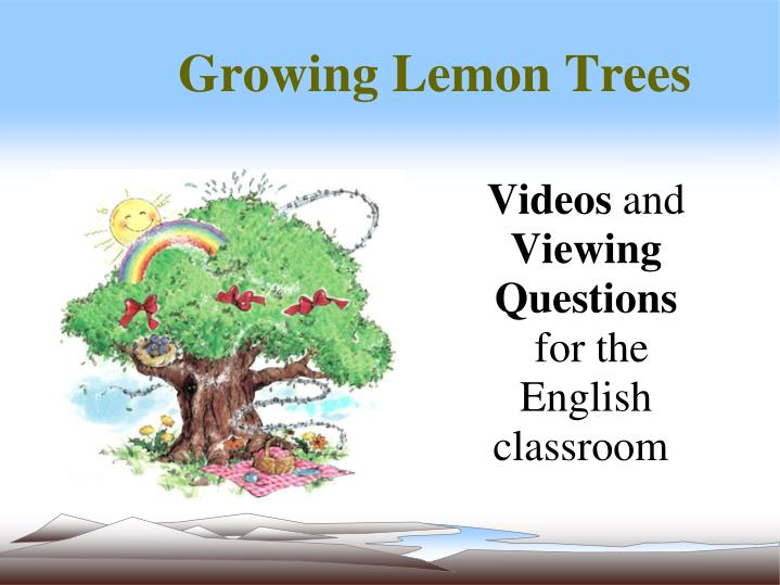 videos and viewing questions for the english classroom n.