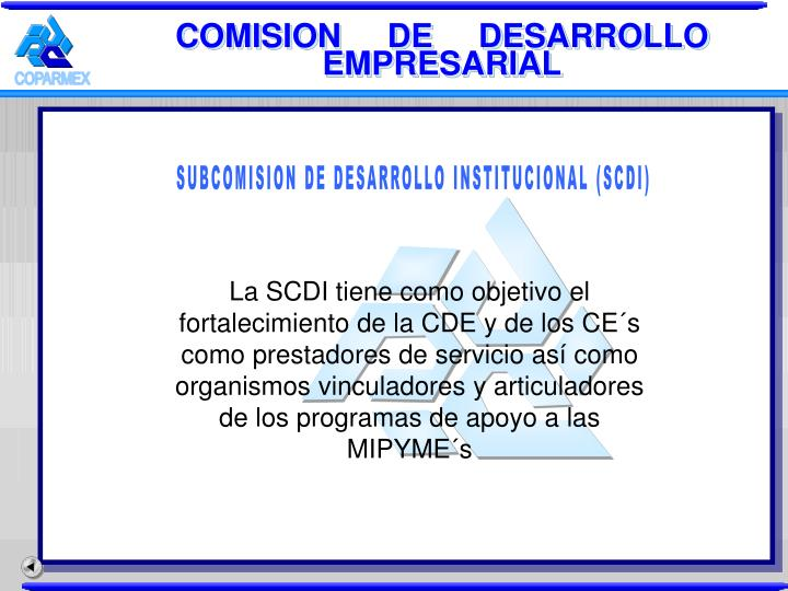 COMISION     DE     DESARROLLO EMPRESARIAL