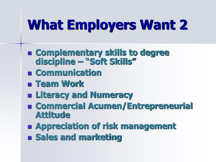 What Employers Want 2