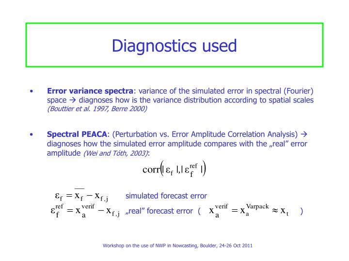 Diagnostics used