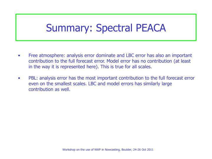 Summary: Spectral PEACA