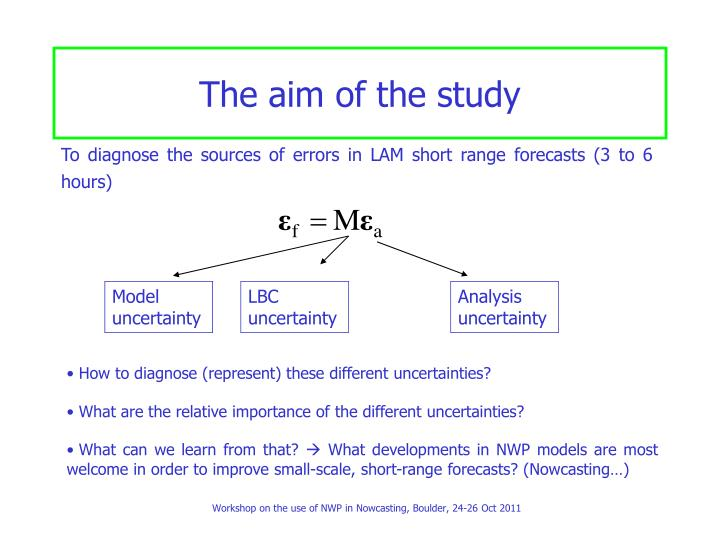 The aim of the study