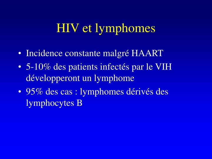 HIV et lymphomes