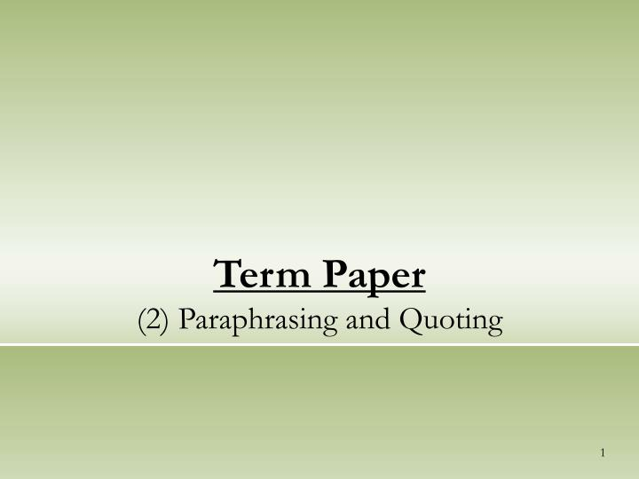 term paper categories As we provide our customers with full academic assistance, all paper types and services are covered be sure to get what you need at 1wscom.