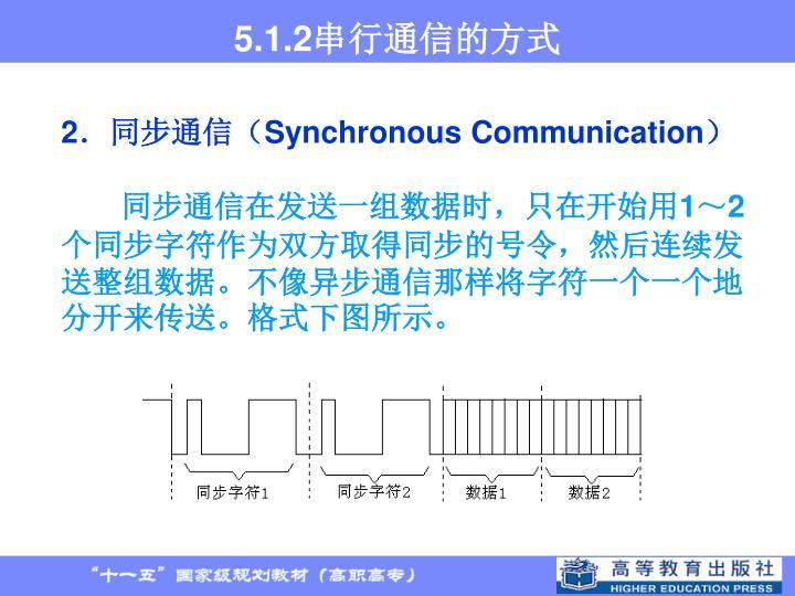 5.1.2串行通信的方式