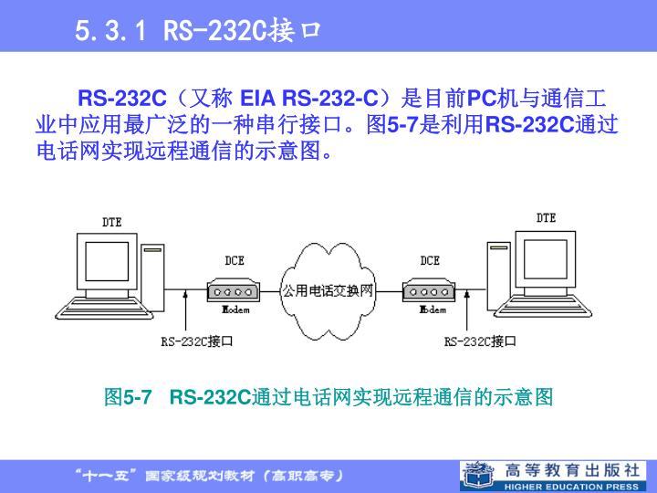 5.3.1 RS-232C接口