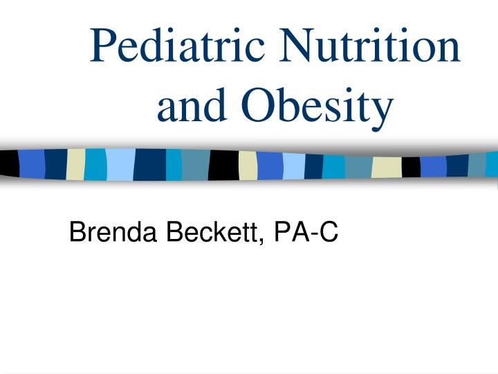 pediatric nutrition and obesity n.