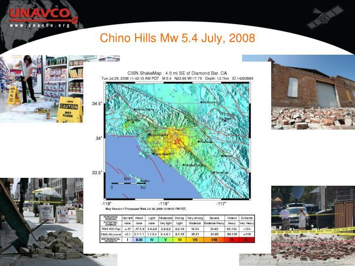 Chino Hills Mw 5.4 July, 2008