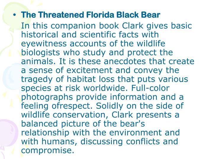 The Threatened Florida Black Bear