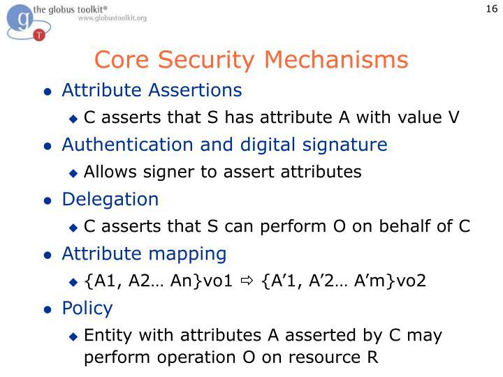 Core Security Mechanisms