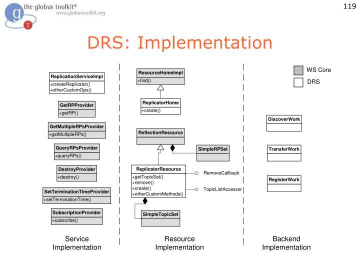DRS: Implementation