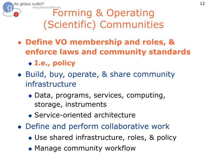Forming & Operating