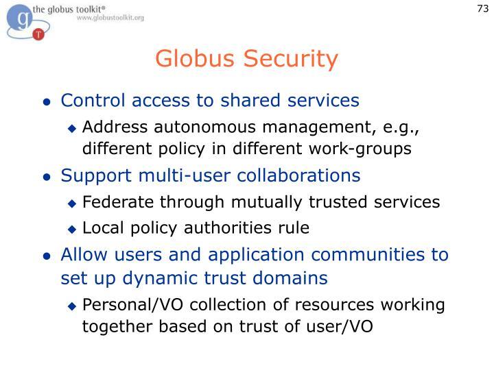 Globus Security