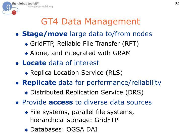GT4 Data Management