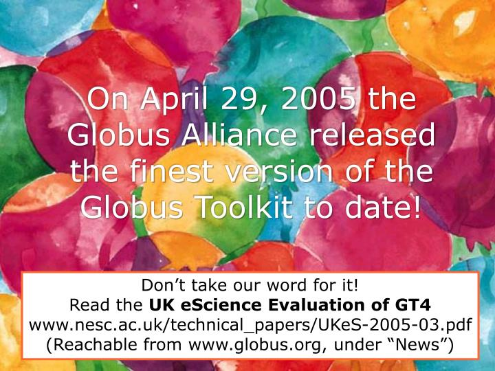 On April 29, 2005 the