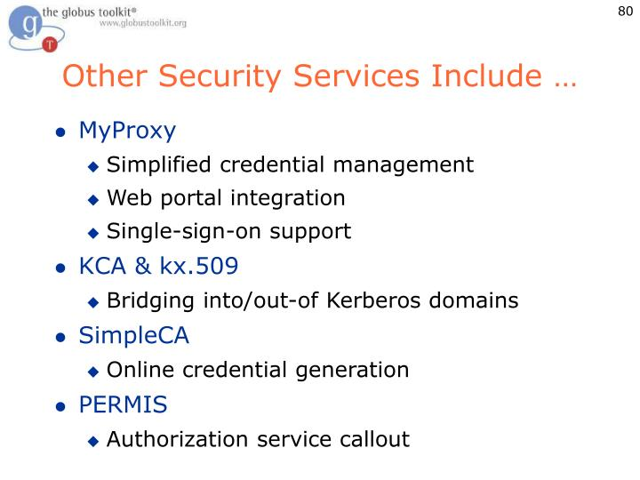 Other Security Services Include …