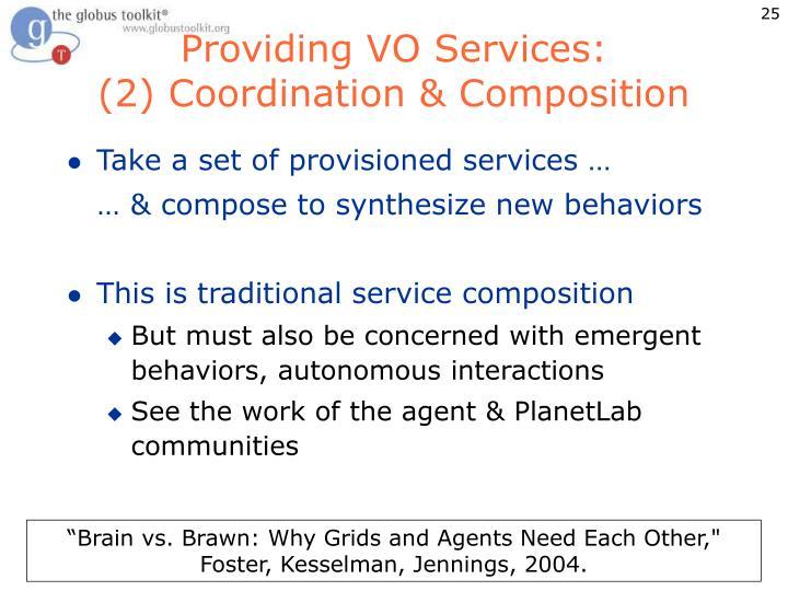 Providing VO Services: