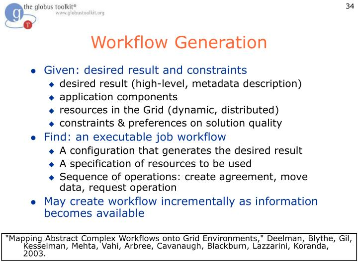 Workflow Generation